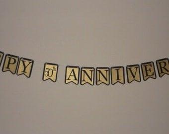 Happy 50th Wedding Anniversary Banner (506B)