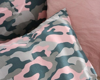 Cotton Fabric Military Camouflage Pink By The Yard