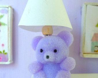 Teddy Bear Lamp (non working) dollhouse miniature 1/12 scale