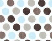 Shannon Minky Cuddle Fabric, Mod Dot Minky, Minky Fabric, Soft Minky, Blue and Silver Minky, Polka Dot Minky