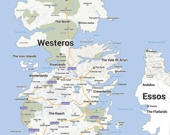 Westeros Google Map