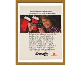 "1981 Kodak Color Print AD / Sensalite Flash Camera / Michael Landon / 9"" x 12"" / Original Advertisement / Buy 2 ads Get 1 FREE"