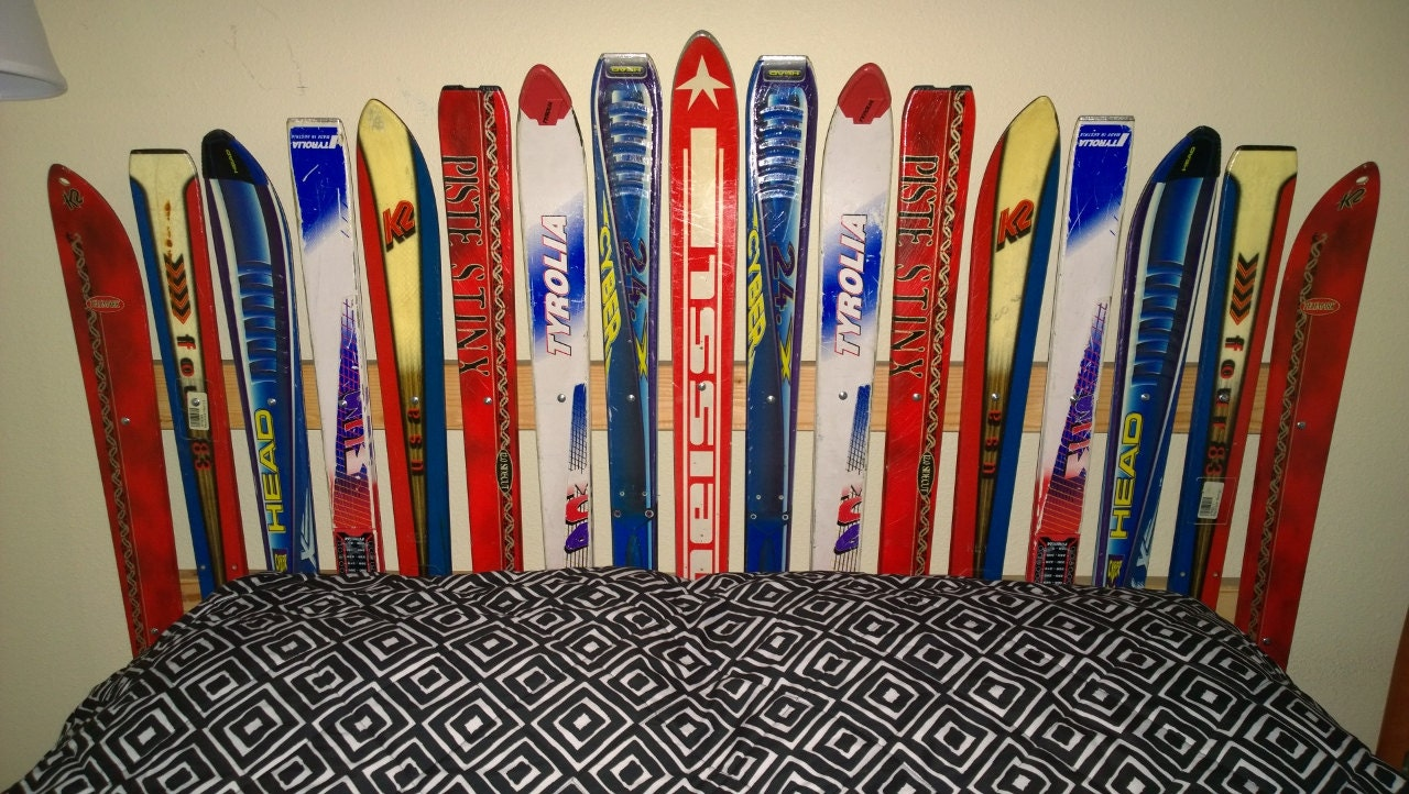 Recycled Ski Headboard Made In The Usa