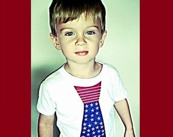Patriotic Baby Shirt, Patriotic Shirts for Toddlers and Juniors, American Flag Shirt for Kids, Baby American Flag Shirt, Clothes, Liv & Co.™