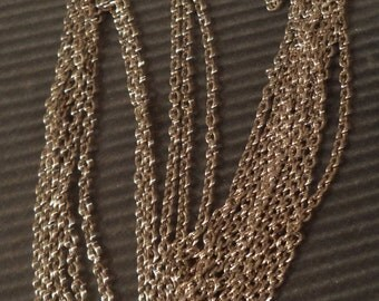 Silvertone chain brass based 8 links per inch 3 foot lengths