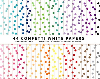 """Confetti Digital Paper Pack 12"""" x 12"""" Commercial and Personal Use Allowed - printable 44 sheets (Quatrefoil 3) INSTANT DOWNLOAD"""