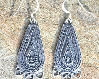 SLAVIC EARRINGS LADA sterling silver Ag 925 pagan early medieval middle ages