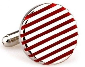 Mississippi Red Stripes Cufflinks Cuff Links