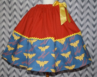 Wonder Woman Skirt for Gals, All Sizes, Plus Size