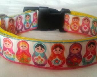 Russian doll dog collar