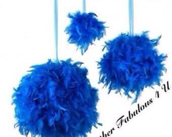 """18"""" Feather Kissing Ball,Feather Ball,Feather Pomander,Party Decorations,Wedding Decorations, Sweet 16  Decorations, Hanging decorations"""