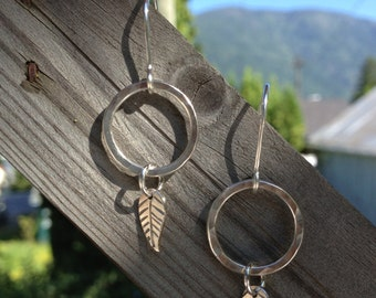 leaf dangle earrings