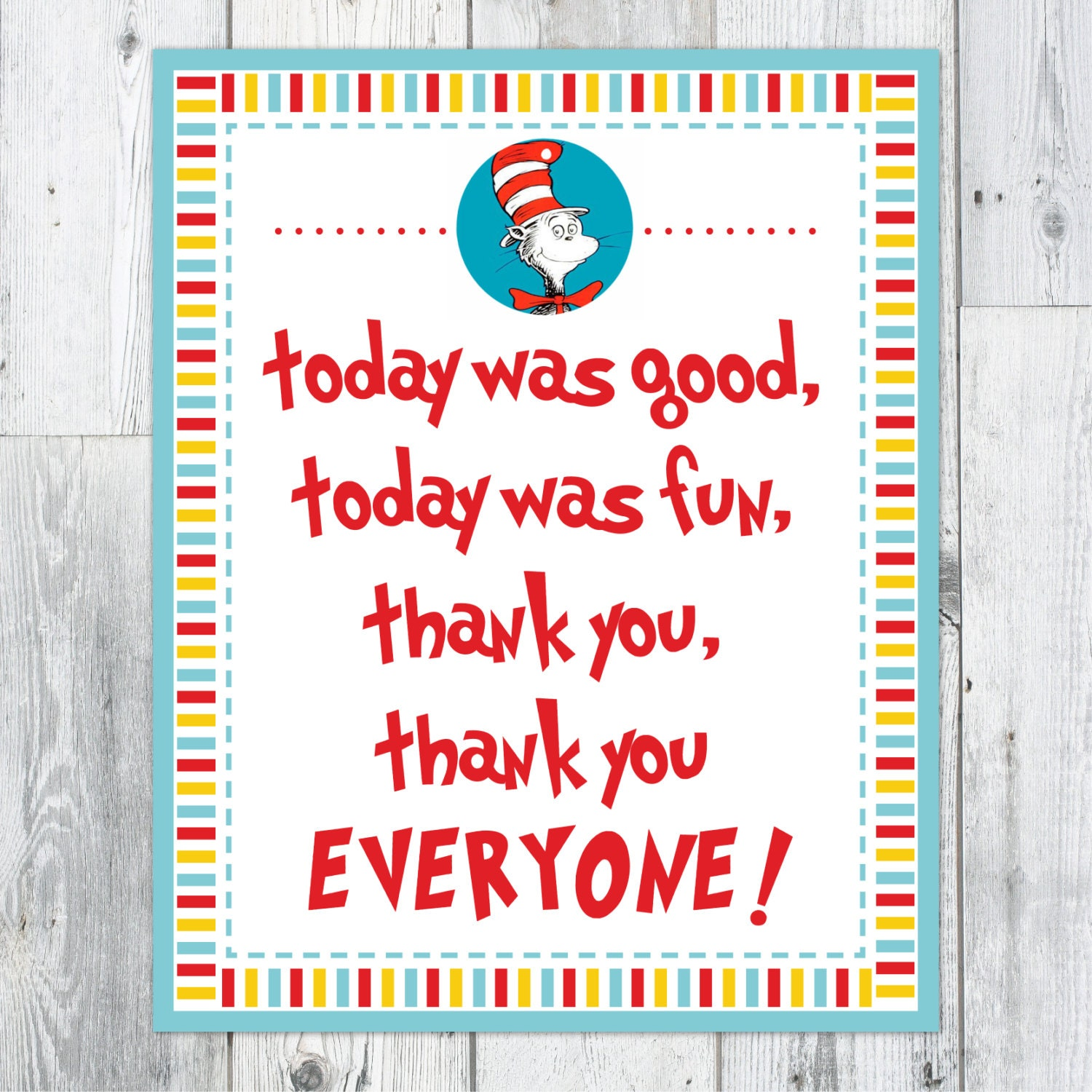 dr  seuss thank you printable sign by perpetualdaydreaming