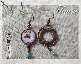 "Earrings ""Les baigneuses"""
