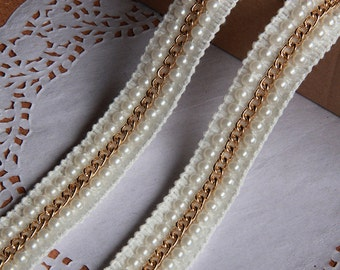 white Beaded Trim - Bugle Bead Insertion Trim/black beaded trim for colothes