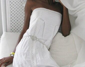 White Cotton Dress Broderie Anglaise Artisan 02