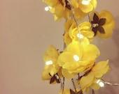 Summer Yellow LED Wild Rose Fairy Lights, String Lights, Bedroom Lights, Wedding Decor