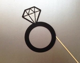 Diamond Ring Wedding Photo Booth Prop Bachelorette Photo Booth Props