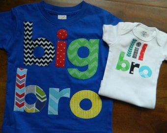 Big Brother Little Brother Set, Big Brother Shirt, Little Brother Bodysuit, Lil Bro Shirt