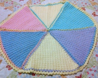CLEARANCE !!! Multi-colored handmade crocheted baby blanket