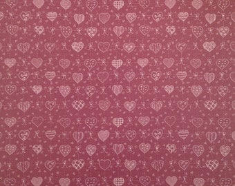 8.5x11 Burgundy Country Hearts