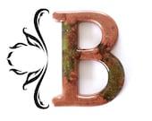 Decorative Letter B Wall Decor. Handmade Resin Letter, Copper Letter, Alphabet Letter, Wall Letter, Letter Monogram, Hanging Letter Art.