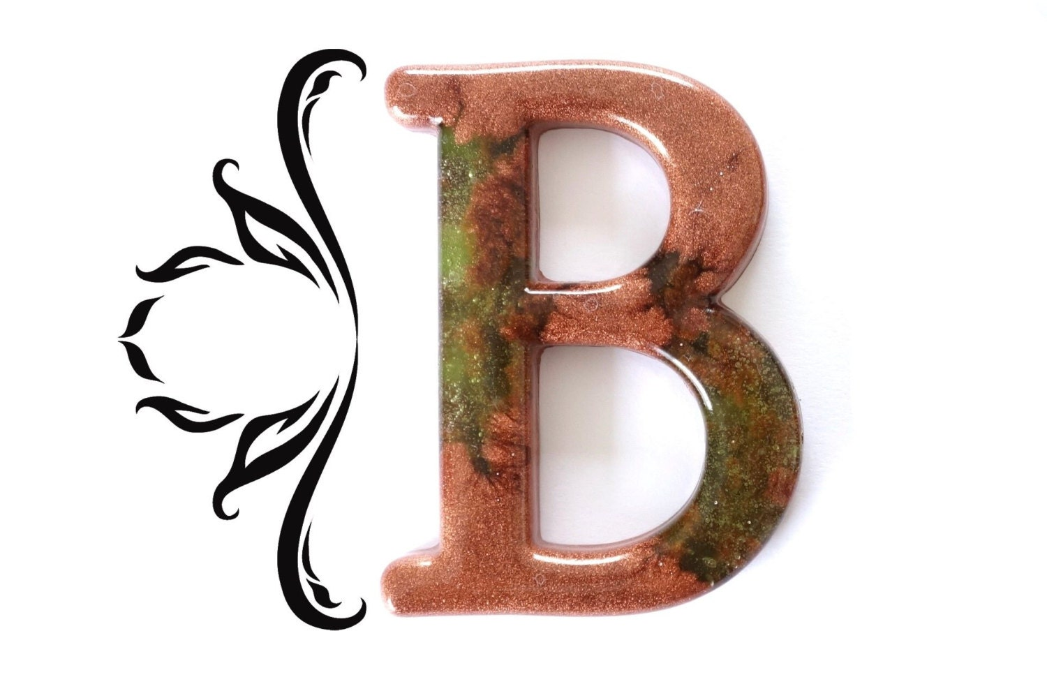decorative letter b decorative letter b wall decor handmade resin by 21329 | il fullxfull.624509616 25kb