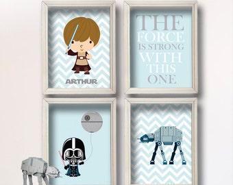 Baby Boy Star Wars Nursery Art- Boy Room Decor -- Star Wars Decor - Baby Shower Gift - Nursery Play Room - Boy Wall Art-BR115