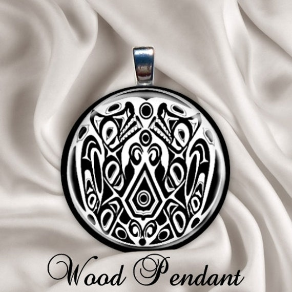 Jacob twilight tattoo design wood necklace by for Twilight jacob tattoo temporary