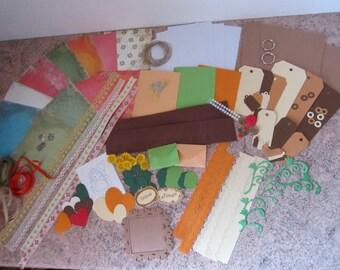 mini album Kit orange-brown