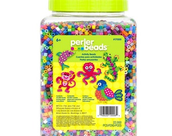 Perler Beads 22,000 Count Bead Jar Multi Mix Colors, Design Your Own Projects Or For Fun, Create Unique Keychains Or Any Beading Accessory