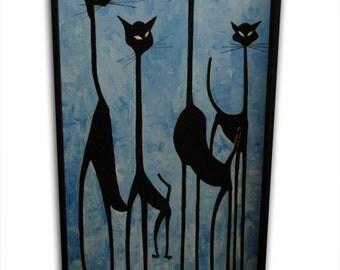 4 Gatos  Painting