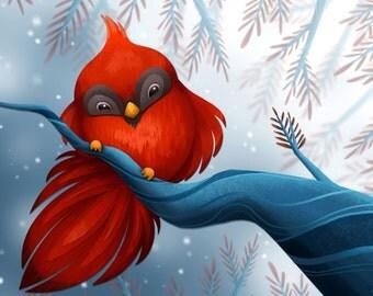 Winter Bird Print