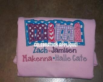 Grandkid Shirt, Mimi Shirt, Grandmother Shirt, Mother's Day Gift, Christmas Gift for Woman