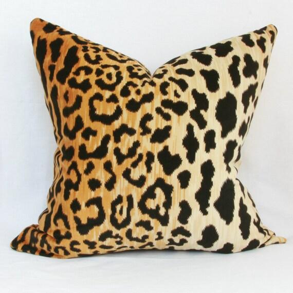 Leopard velvet decorative throw pillow cover. by JoyWorkshoppe