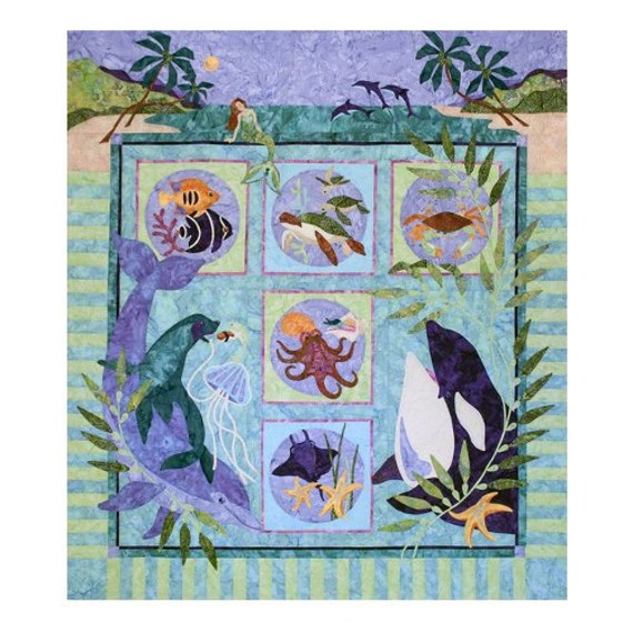 Java House Quilts Symphony In Sea Dolphin By