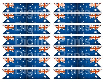 Australia Day Flag Cupcake Flags Printable Party. Add a little charm to your party with these beautiful flag cupcake toppers.
