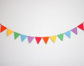 Rainbow Paper Triangle Garland