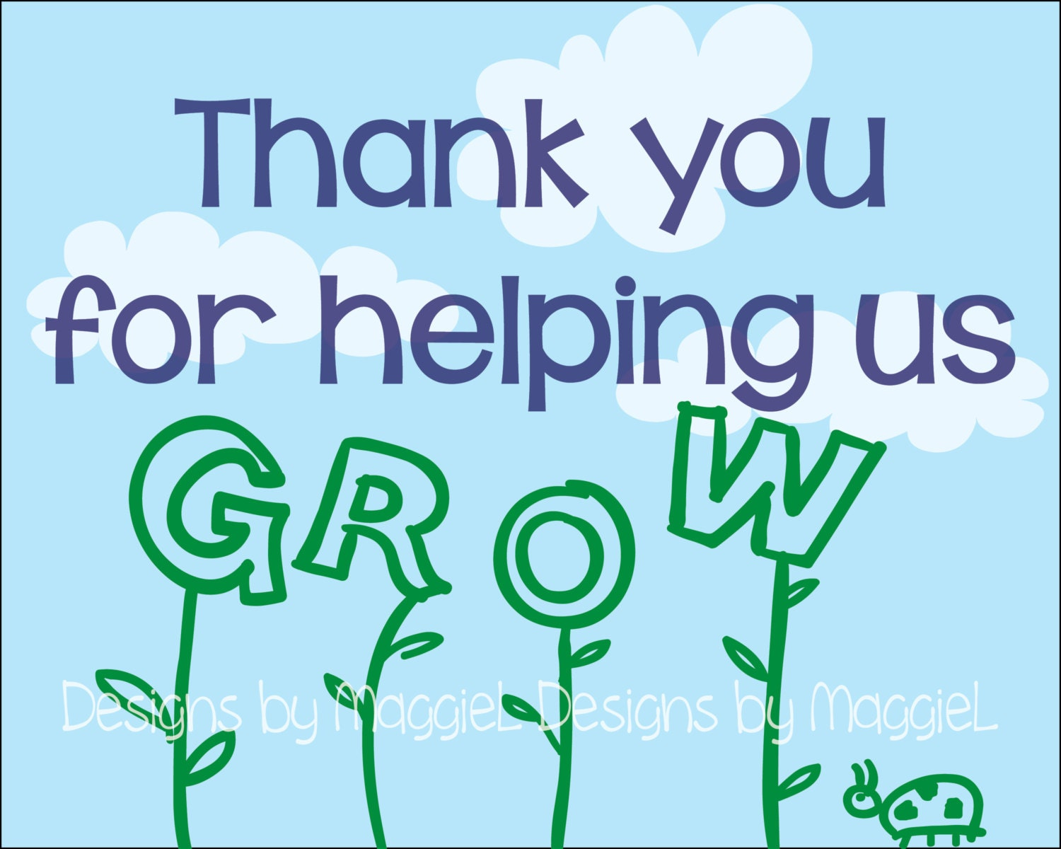 Superb image inside thank you for helping us grow printable