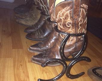 4 Pair Horseshoe boot rack