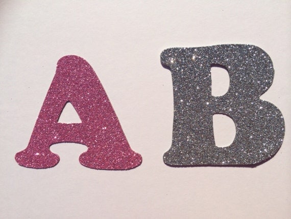 Glitter cardboard letter 3 inches 75cm tall by for Glitter cardboard letters
