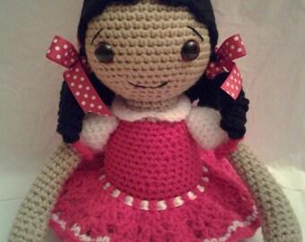 AMELIA Crochet Amigurumi Doll - Crochet Girl Doll - Gypsy Doll