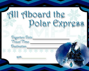Polar Express Invitation Digital Au tomatic Download ...