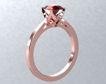 ruby engagement ring bloomed love ring round vvs2 ruby pigeon blood ruby 18k rose gold engagement - Ruby Wedding Ring