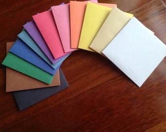 Coloured paper envelopes, Plain envelopes, Handmade envelopes, 3 sizes