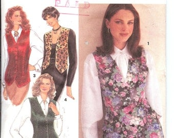 Simplicity  8621  Misses' Set of Lined Vests, Each in wo Lengths   ID225