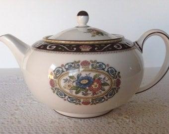 "Large Brown Wedgwood ""Runnymede"" Teapot"