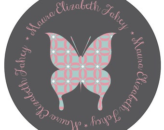 Customized Personalized Melamine Plate - Butterfly