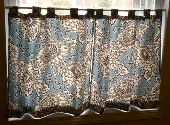 Blue Cotton Cafe Curtains/ Kitchen Curtains/Bathroom Curtains