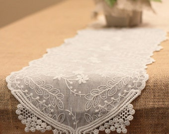 Floral Lace Table Runner Dining, 12-inch, 6-feet
